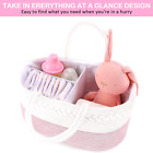 Baby Diaper Caddy Organizer ABenkle Cotton Rope Storage Basket Nursery Pink Gift