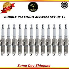 Double Platinum Spark Plugs APP3924 Set of 12 For Audi BMW Hyundai Lexus Suzuki