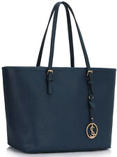 LeahWard Women's Faux Leather Fashion Large Shopper Tote Shoulder Handbags Bag