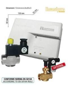 Kit rivelatore fughe gas GPL con Valvola 3/4 riarmo manuale normalmente aperta