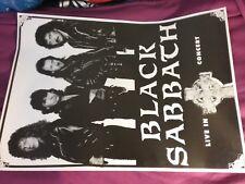 Black Sabbath 1980S Live In Concert B/W Poster 35 X 25 Nmint Rare Clean Vtg Htf!