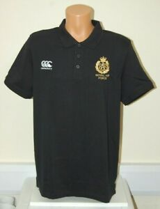 CLEARANCE: Royal Air Force Regiment Canterbury Rugby Polo - Black XL