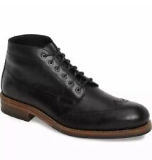 Wolverine 1000 Mile Harwell Chukka Black Leather Boot Wing Tip Brogue Size 9.5