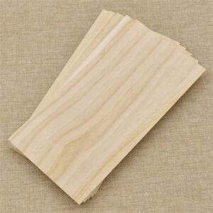5/10x Paulownia 2mm 100x100/100x200mm Holzbearbeitung Material Holzplatte Modell