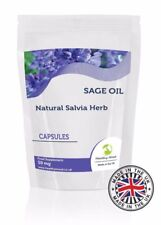 Sage Oil 50mg Natural Herb Health Supplement 250 Softgel Capsules