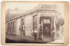 Cabinet Photo of the W A Moseley Saddle & Harness Shop & Workers 1890s  Missouri