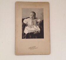 Cabinet Card Photo Baby Little Falls NY F E Abbott Antique Vintage