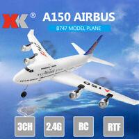 XK A150 Airbus B747 Model Plane RC Fixed-wing RTF EPP 3CH 2.4G Airplane Toy F6R2