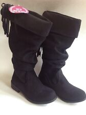 NWT SO Dixie Girls Knee High Boots Black Kids SIZE 2 $60