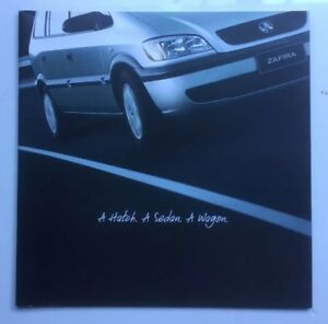 Holden Opel Zafira Brochure  24 color Pages