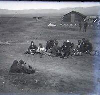 Balcani Oriente WW1 Francia Grecia Bulgaria Placca Lente Stereo Negativa