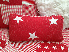 Red Stars Lachlan Filled Rectangle Coastal Nautical Decorator Cushion