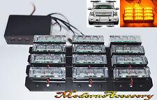 36 LED Emergency Vehicle Strobe Lights/Lightbars for Deck Dash Grille - Amber