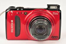 Fujifilm FinePix F500EXR 16MP Cámara Digital Compacta en rojo con tarjeta SD
