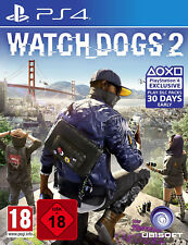 PS4 Watch Dogs 2 100% UNCUT NEU&OVP Playstation 4 Paketversand