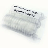Lot of (30) U.S. Mint Silver Eagle Capsules, OGP Original Government Issue Caps