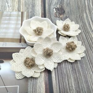 Simple Jute linen Flower Wedding Costume Home Wall Decoration Accessories Crafts