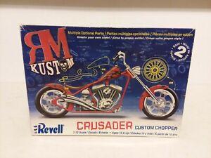 REVELL CRUSADER CUSTOM CHOPPER MODEL KIT UNBUILT 1:12