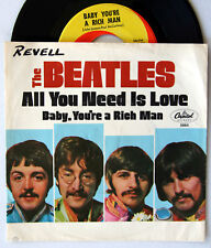 HEAR Beatles 45 All You Need Is Love/Baby You're A Rich Man NM SLEEVE