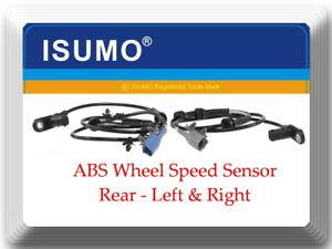 2 Kits ABS Wheel Speed Sensor Rear Left & Right Fits Nissan Quest 2004-2009 3.5L