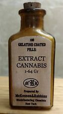 Vintage Medicine Hand Crafted Bottle, Cannabis Extract McKesson (EMPTY, Copy)