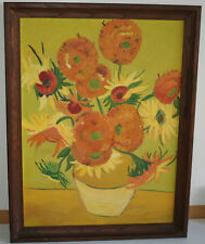 Old Oil Painting Style of Van Gogh Sun Flower