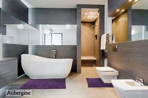 100% Cotton Chenille Shaggy Non Slip 2 / 3 Piece Bathroom mat & Pedestal mat set