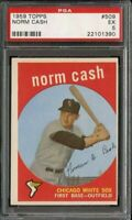 1959 Topps NORM CASH #509 PSA 5 ROOKIE RC Chicago White Sox Detroit Tiger HIGH #