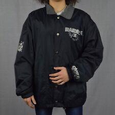 RARE!! Vintage Raiders NFL windbreaker rain proof jacket size M