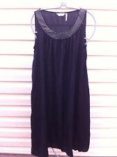 STYLISH MILLER'S  BLACK DIAMONTY NECK/LOOSE DRESS SIZE: 12 BNWOT