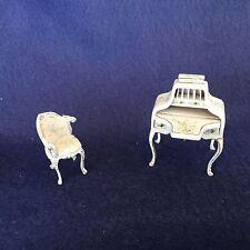 Bespaq Desk and Chair in Dollhouse Miniuature Half scale 1:24