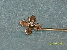Antique Hat Pin Stick Pin With Center Rhinestone
