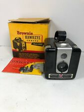 VINTAGE KODAK BROWNIE HAWKEYE CAMERA FLASH MODEL WITH BOX & PAPERWORK