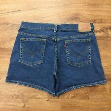 """Levis Nouveau Stretch Blue Denim Shorts Red Tab Womens 14 MIS Waist 36"""""""