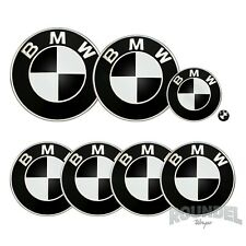 For BMW Badges - Gloss Black  - All Models Decals Wrap Stickers Overlays