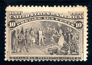 USAstamps Unused F US 1893 Columbian Expo Presenting Natives Scott 237 OG MHR