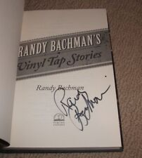 RANDY BACHMAN - SIGNED VINYL TAP STORIES HARDCOVER BOOK - AUTOGRAPHED! BTO