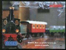 Modellismo Ferrovia catalogo treni Marklin MAXI 1994 Italiano 24 pagine