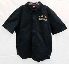 Men's Harley Davidson Button Front Black Shirt XL