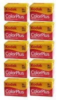 New Boxed Kodak Colorplus 200 35mm 36exp Film 10Rolls  / Date 12-2021