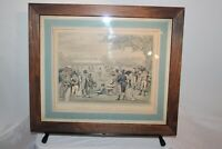 Antique Print Cricket At Lord's In 1822 Framed Color Print Men Playing Cricket