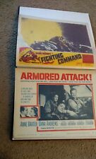 Vintage Military world war two WW2 Movie posters 11x17 Huge lot of 62 in album