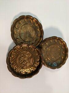 Metal Copper Gruss Aus Heidelberg Coasters Set of 10