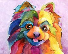 """Pomeranian """"Pom Too"""" 8X10 Dog Print from Artist Sherry Shipley"""