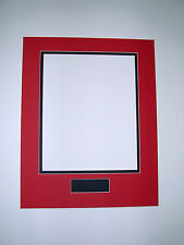 Picture Frame Double Mat 16x20 for 11x14 photo Red with Black and plate opening