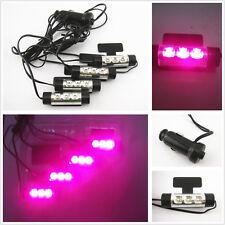 4 x Purple Pink LED Car Charge Interior Floor Decorative Atmosphere Lights Lamp