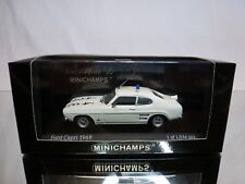 MINICHAMPS 85590 FORD CAPRI 1969 AUTOBAHNPOLIZEI - WHITE 1:43 - EXCELLENT IN BOX