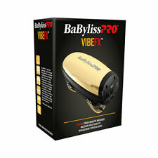 BaByliss PRO Vibe FX Gold Cordless Stainless Steel Housing Massager FXSSMG - NEW
