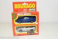 BBURAGO BURAGO 4200 GIFT SET GIFTSET 2 CARS MERCEDES 190 300 SL VN MINT BOXED