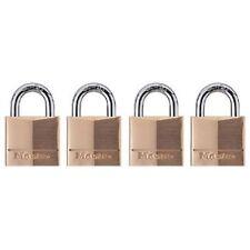 Master Lock 120Q Keyed-Alike Wide Padlocks, 3/4-inch, Solid Brass, 4-Pack, New